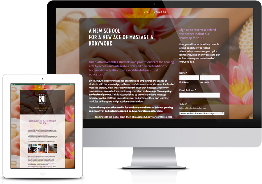 Web Design - Sacramento Massage Therapy School