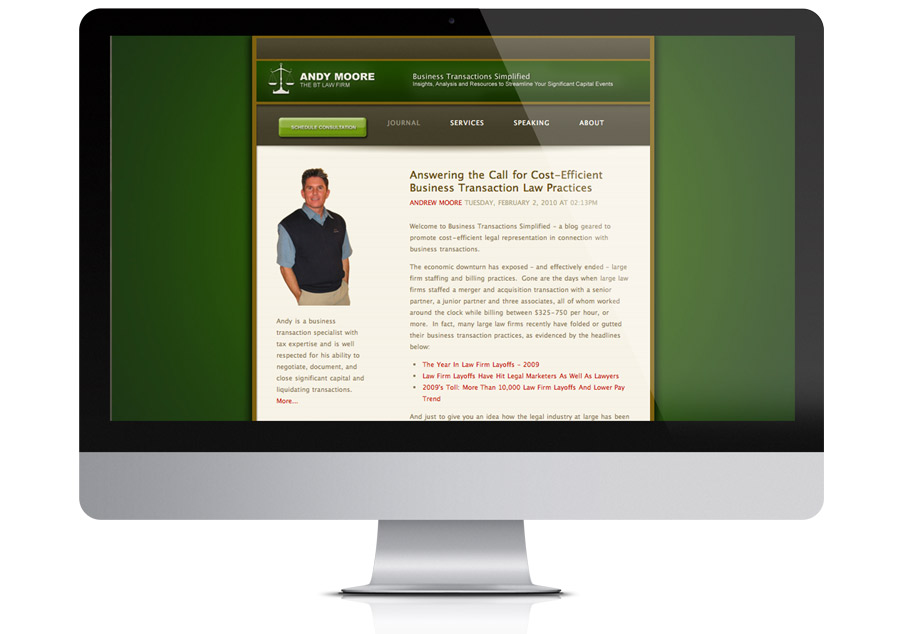 Web Design - Andy Moore, Law Firm