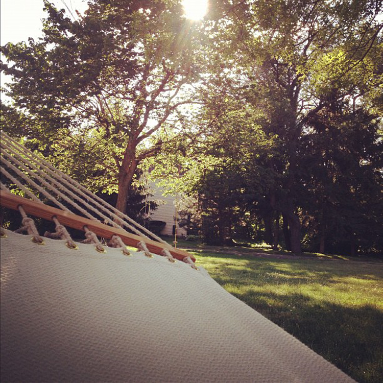 """Enjoying the view from my hammock"" by Sarah Pogorzelski"
