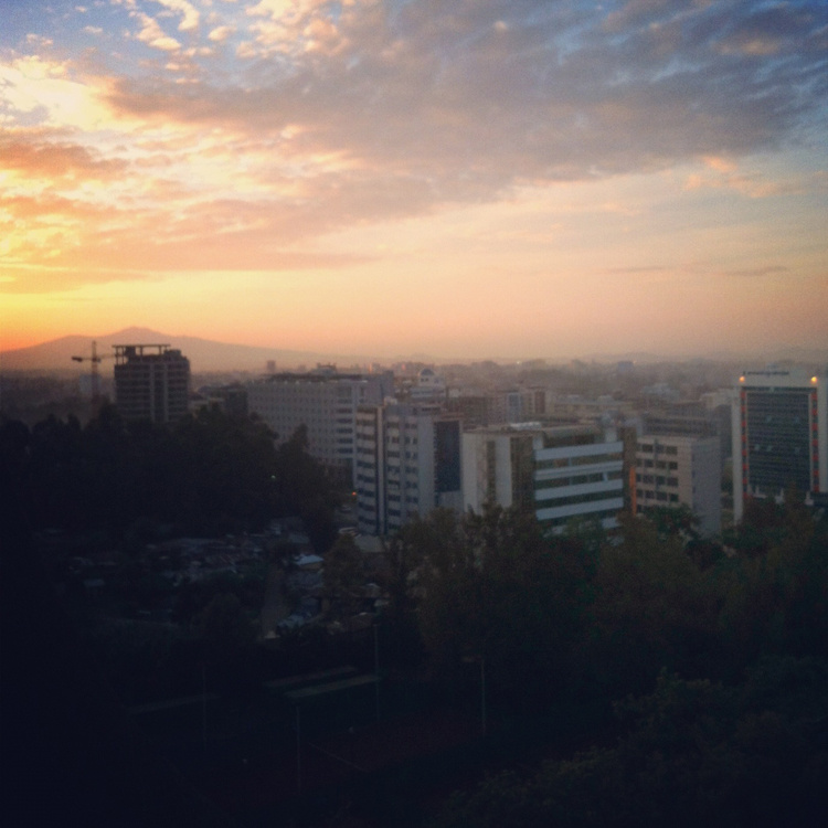 Sunrise in Addis Ababa