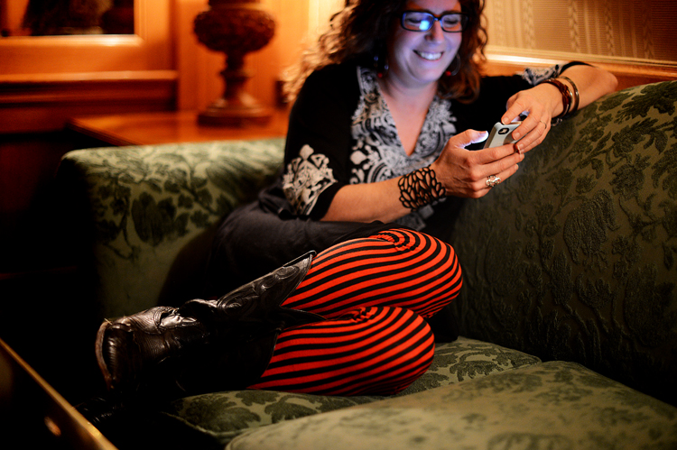 Laurie on the last day of the conference.  Her leggings made me happy, so I photographed them.