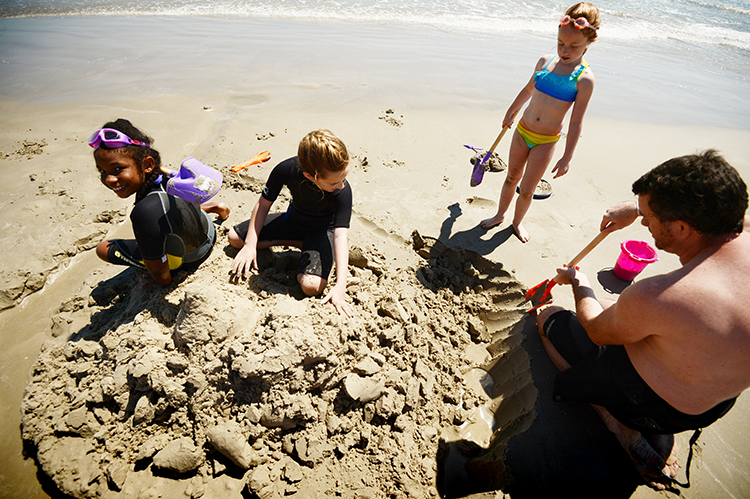 ... and sandcastle moats.