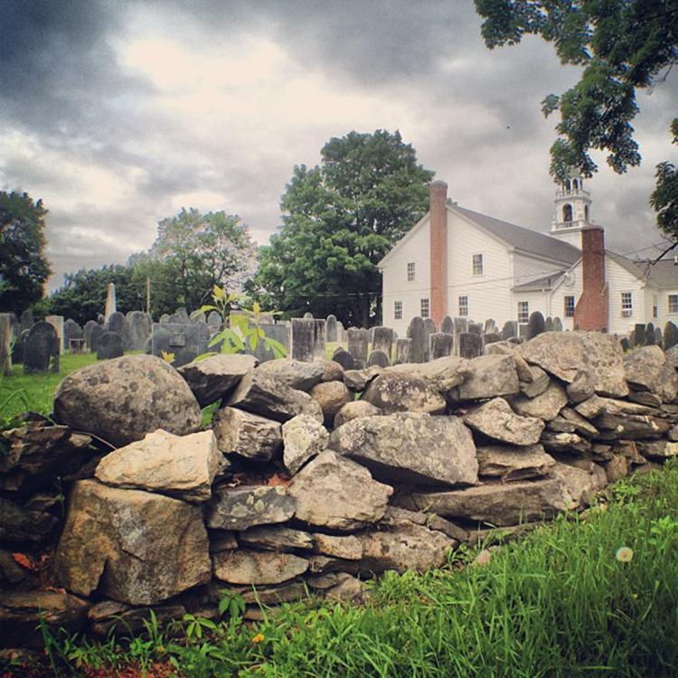 """""""the congregational church cemetery"""" by imelda bettinger (hollis, new hampshire, usa)"""