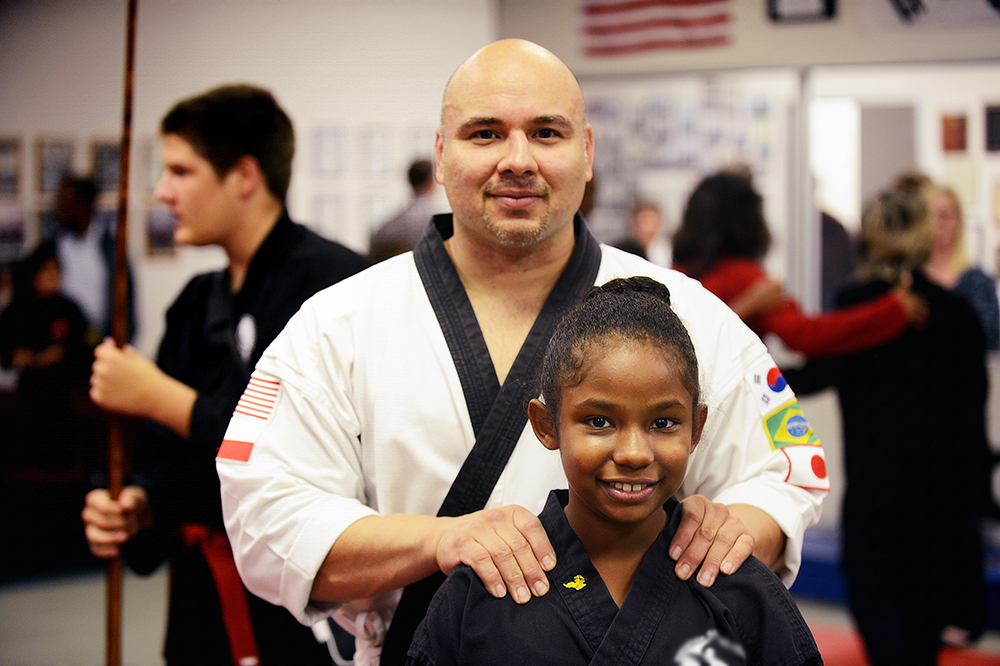 Alex and her instructor, Mr. Garcia.  She admires this man beyond description.
