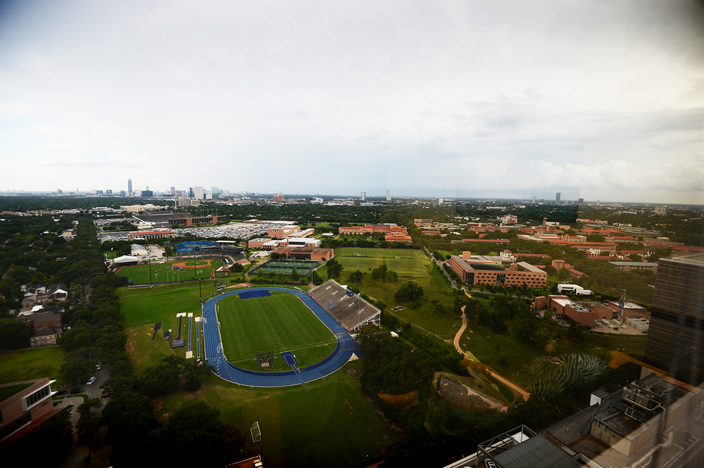 View from the doctor's office of Rice University.