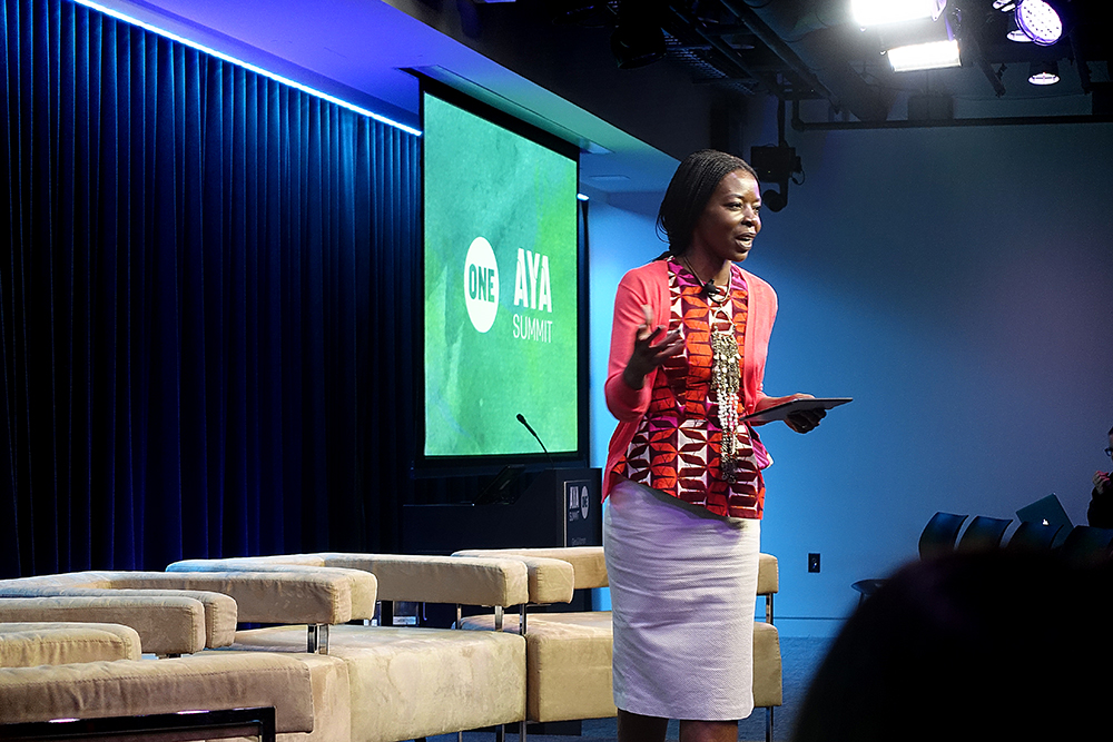 """The incomparable Patricia Amira, informally known as """"Africa's Oprah."""" She is a force of nature, and an amazing person (I got to meet her on my trip to Kenya), and was thrilled to learn she was to be our MC for the two days of the AYA Summit."""