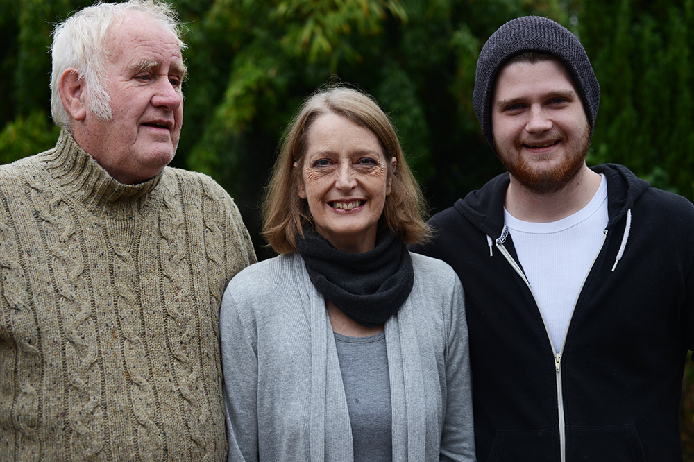 My father-in-law, Bob, his wife Anne, and Marcus' brother, Will, in Gloucestershire.
