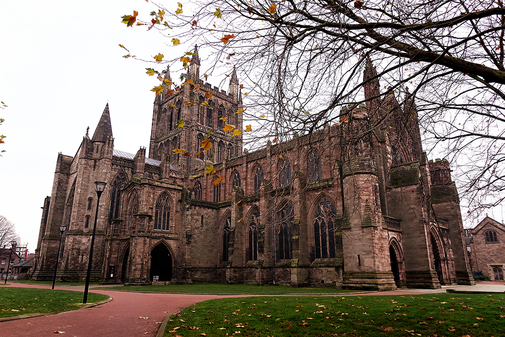 While visiting Marcus' dad, we all took a day trip to Herefordshire, to visit the Hereford Cathedral.  Interior shot here.