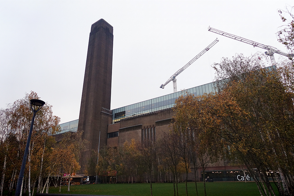 The Tate Modern Museum -- my favourite museum in London.  It's built from an old power station, and it's glorious.