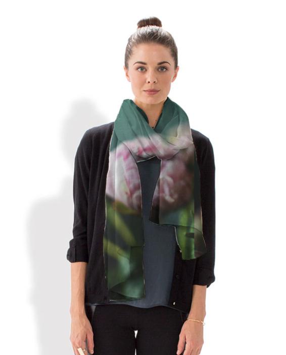 Peonies scarf