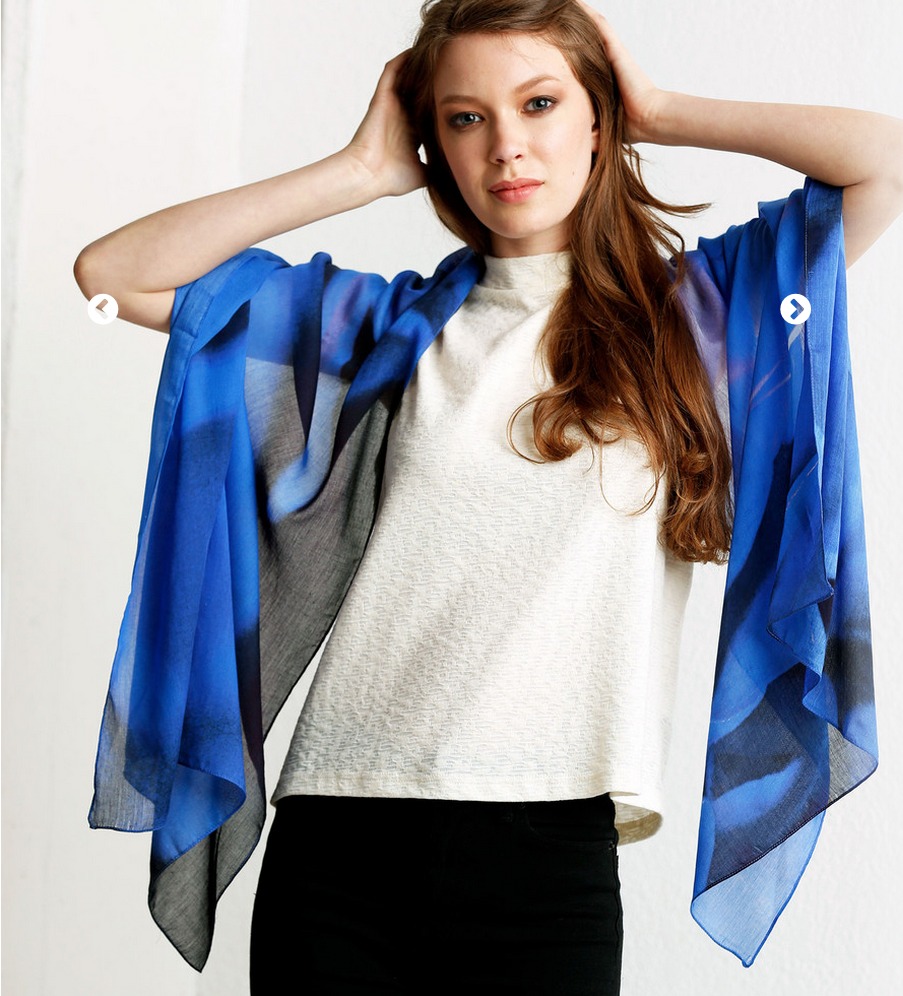 click the image above to order the Hydrangea Modal Scarf.