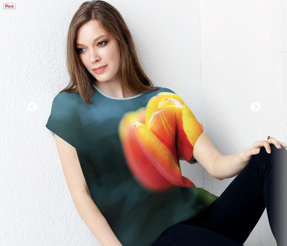 click the image above to order the Orange Tulip Silk Tee    .