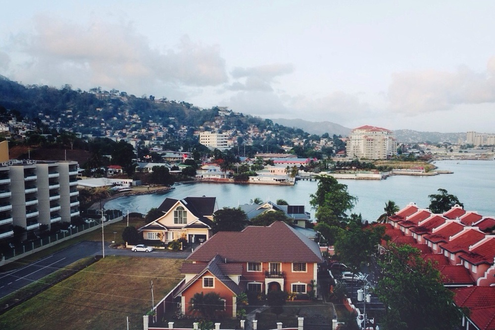 View of Port-of-Spain, Trinidad.