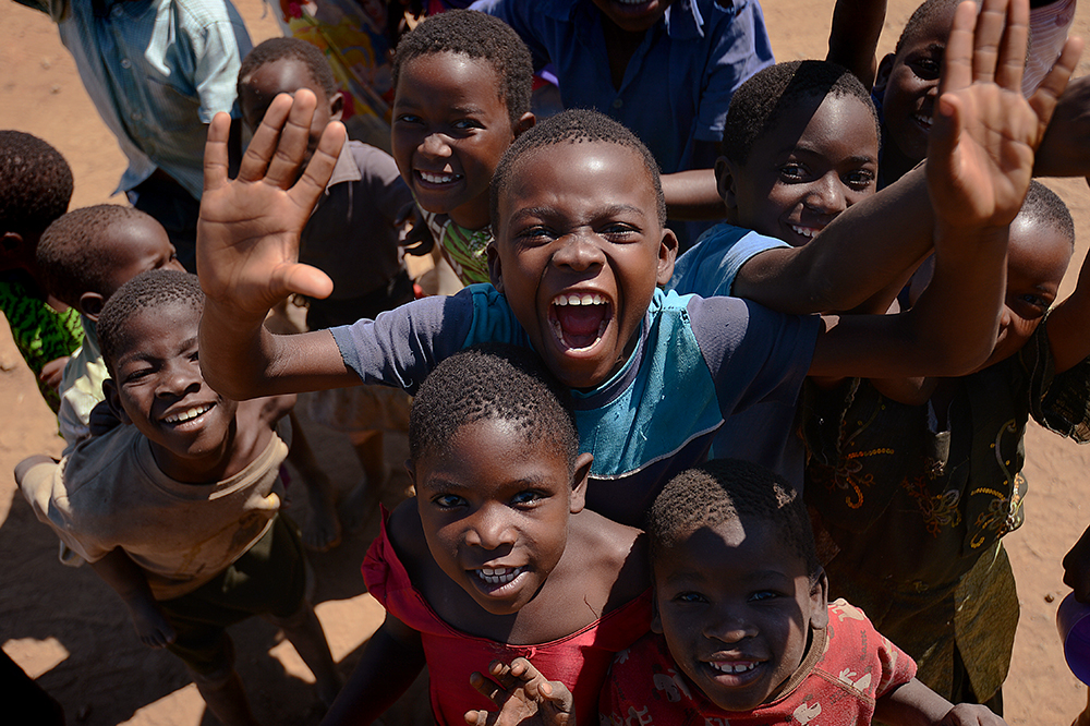 Joyful children in Malawi.