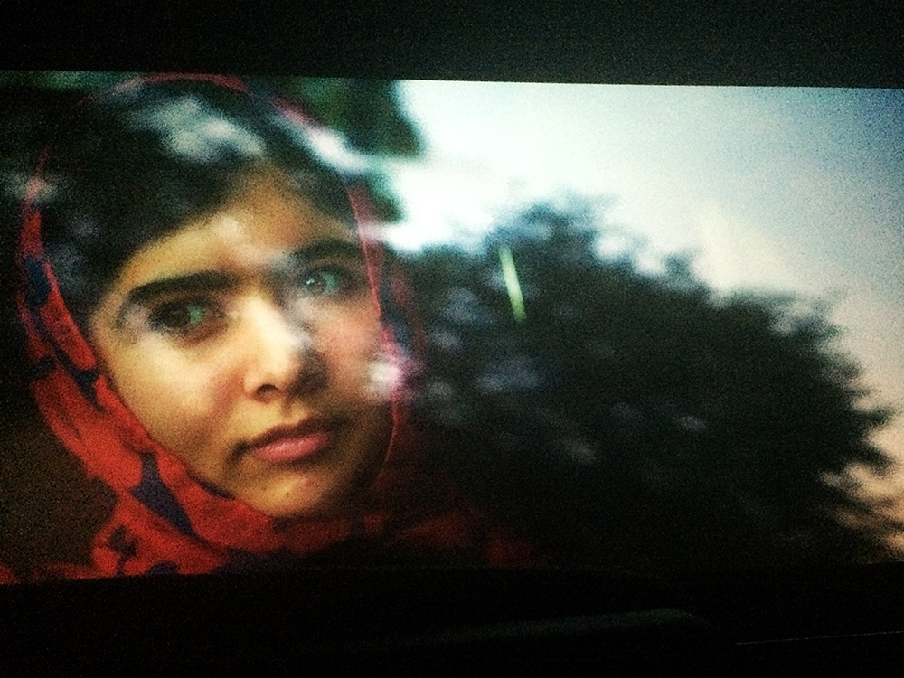 A scene from    He Named Me Malala  , photographed with my iPhone at the theatre.