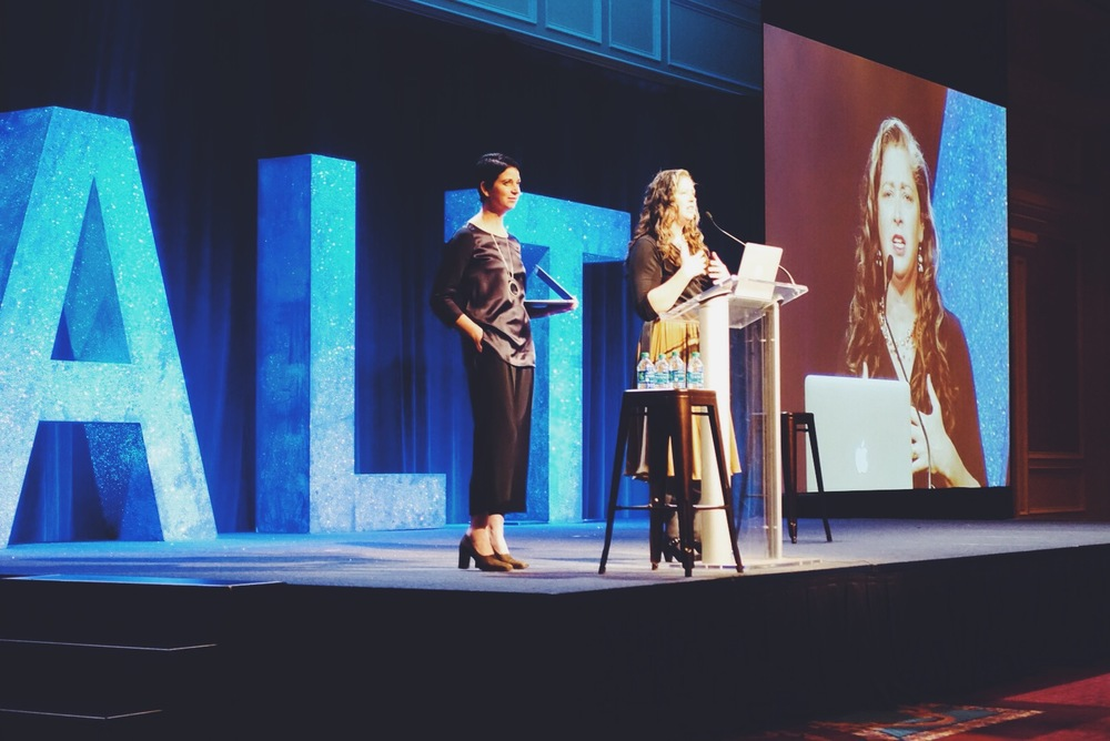 Sisters Gabrielle Blair and Sara Urquhart, founders of the Altitude Design Summit, welcoming this year's attendees.