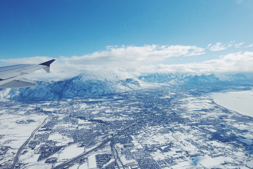 On final approach into Salt Lake City. Toto, we're not in Texas anymore.