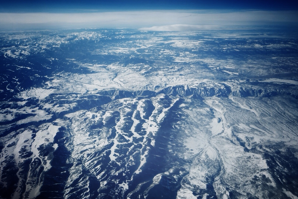 Somewhere between Salt Lake City and Houston on the way home on Saturday morning.