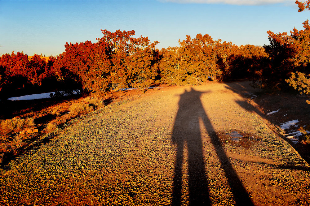 Marcus & me on a sunset walk in Santa Fe, January 2014