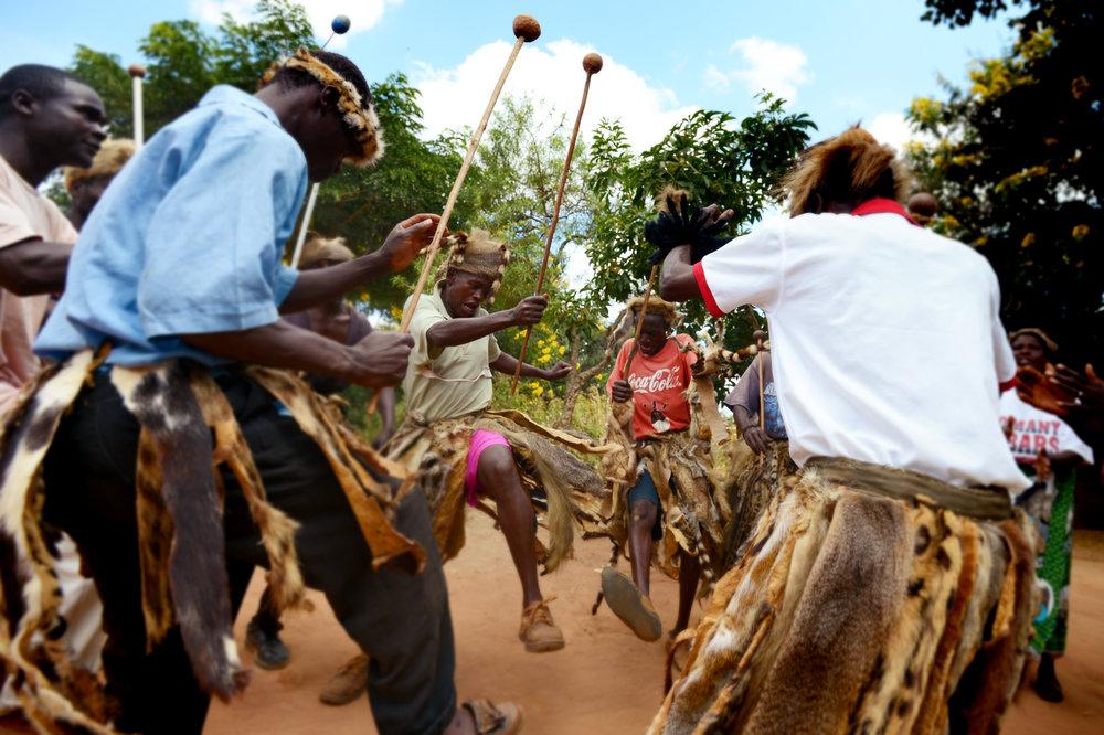 Malawi dancing, May 2015