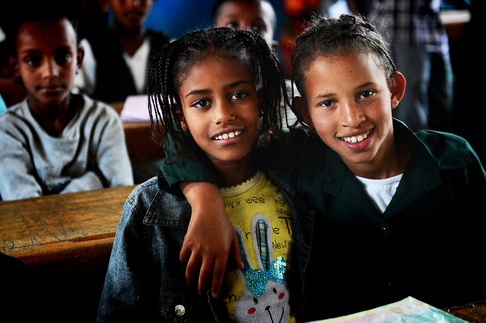 Schoolmates and BFFs in Mojo, Ethiopia, October 2012.