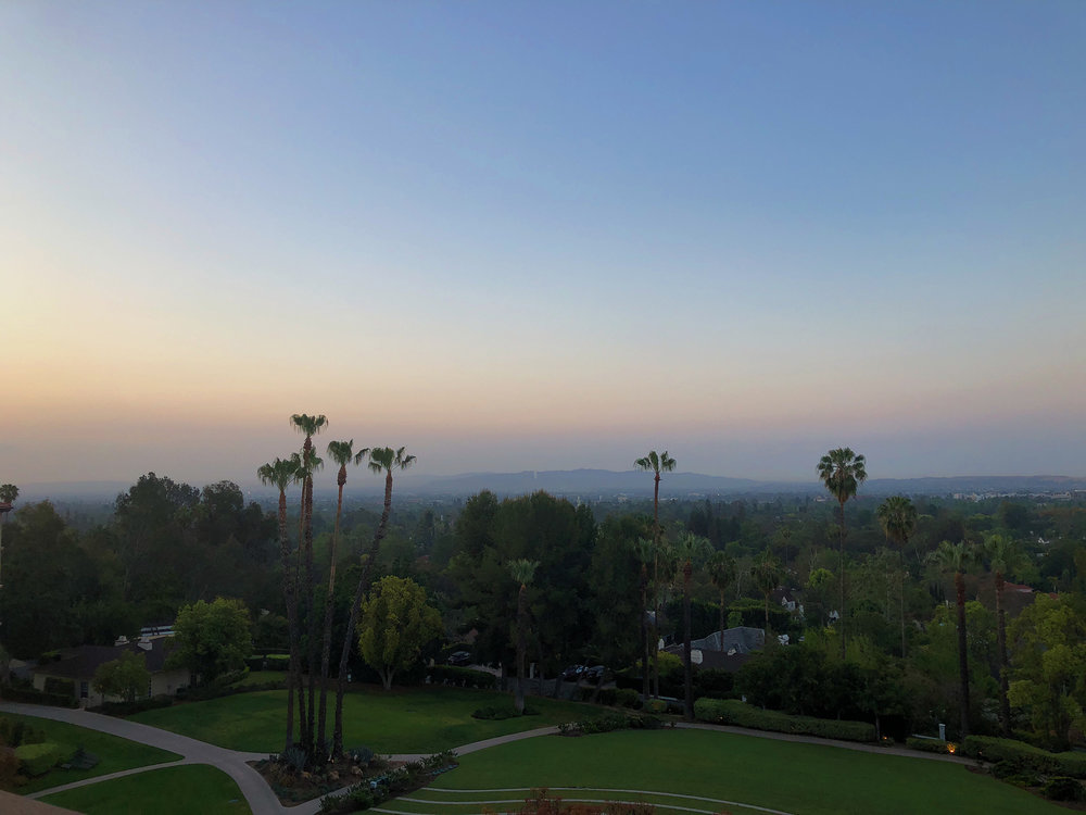 The view from my room at the Langham Huntington Hotel in Pasadena, California during the Mom 2.0 Summit, Thursday, May 3rd, 2018. There are worse views in the world to wake up to.