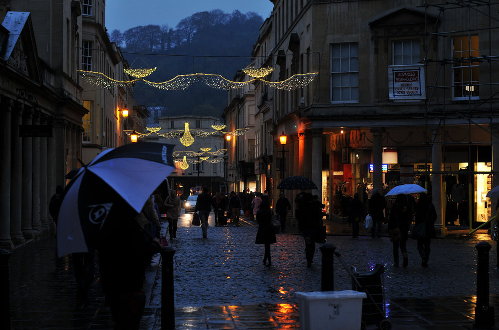I didn't have a picture of a bathroom, but I did have this photo I took years ago in Bath, UK, and it's wet like a bathroom, so I figured it would work.