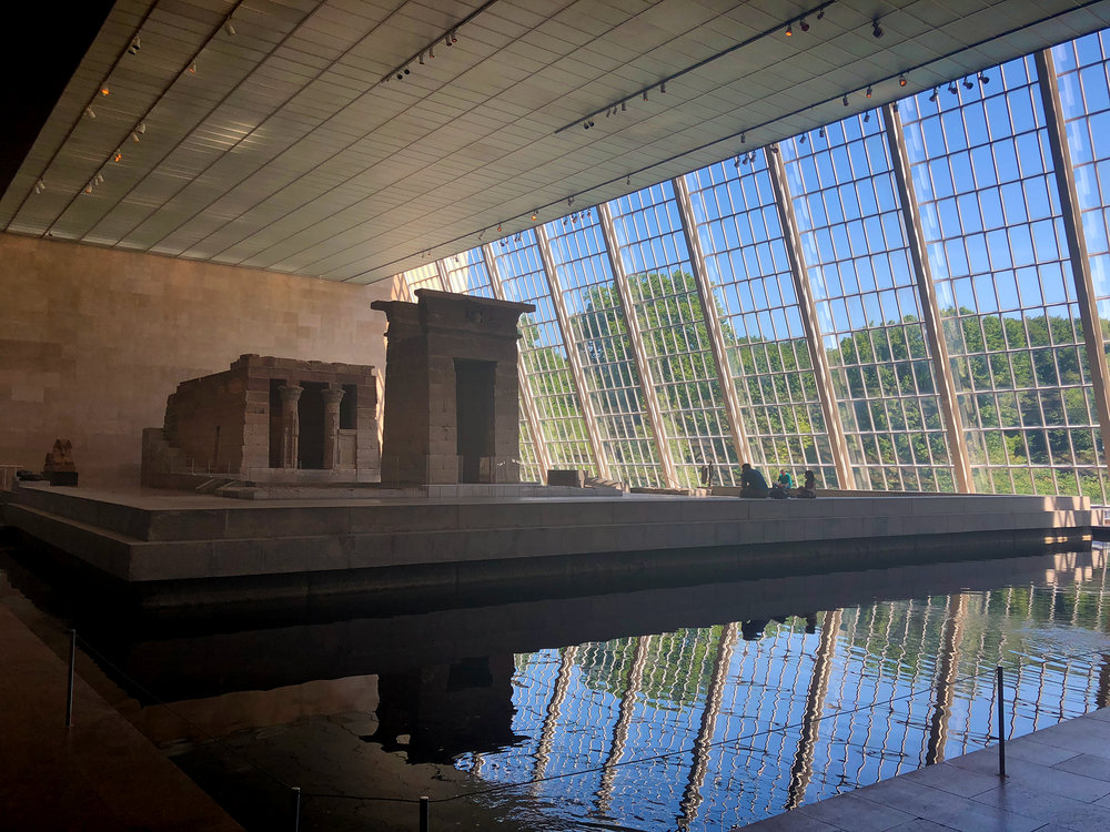 The real-life, no-foolin, honest-to-goodness Egyptian temple inside the Met.  It was unreal to turn a corner and suddenly find yourself face to face with this.