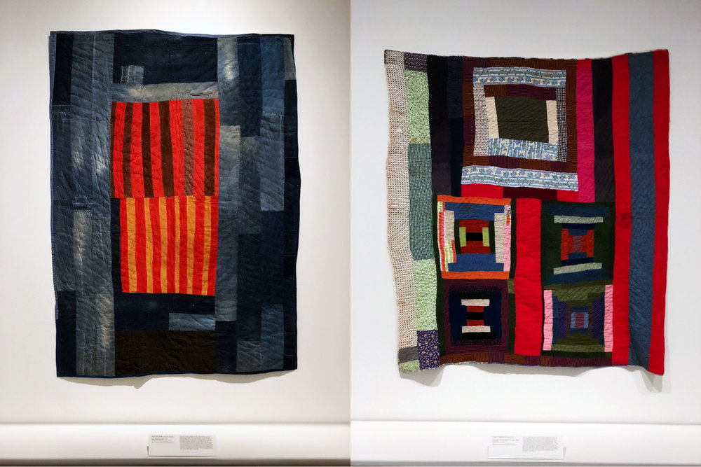 The quilts from Gee's Bend  , on exhibit now at the Met.  Gorgeous, with a really interesting story.