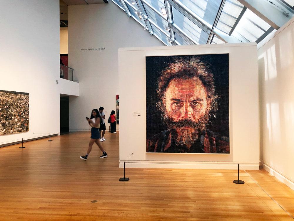 """""""Lucas,"""" by Chuck Close, Metropolitan Museum of Art, Manhattan."""