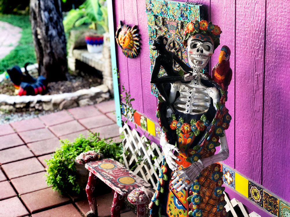 The spirit of Frida Kahlo is everywhere (as are these amazing     calacas    ).