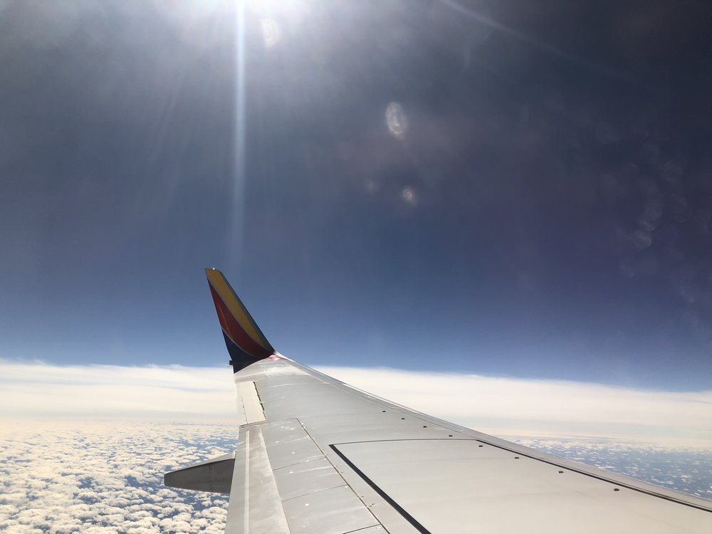 Leaving Dallas, somewhere between Texas and California.