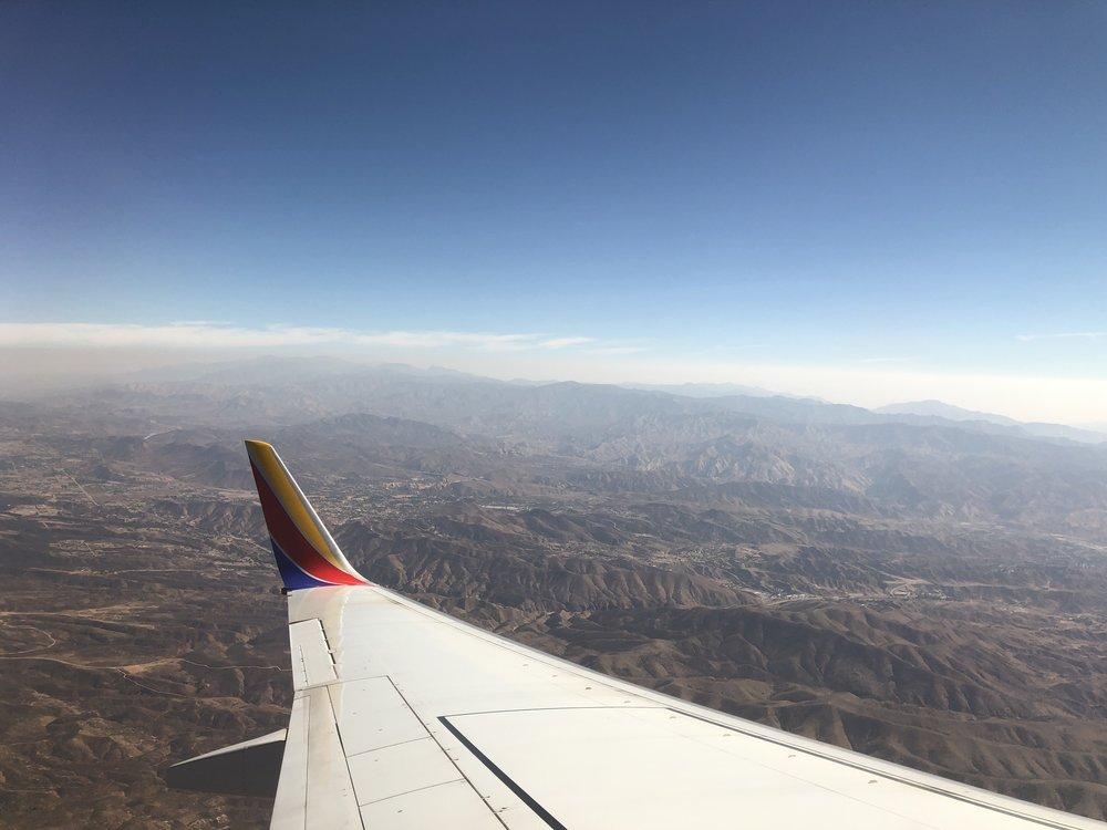 Final approach into Burbank, California.
