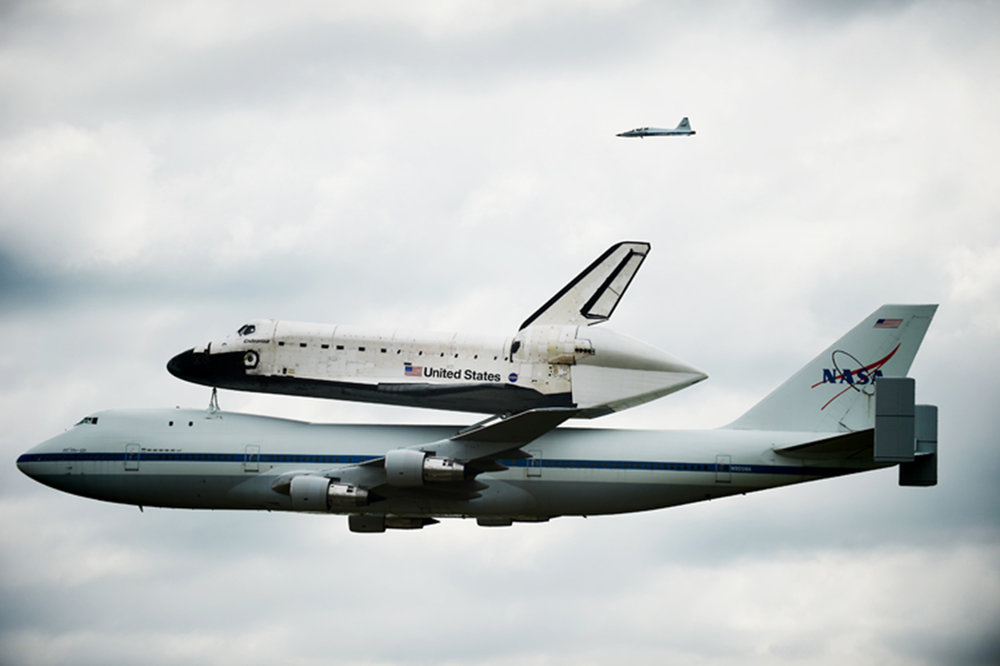 Space Shuttle Endeavour, coming in for a landing at Johnson Space Center, a pitstop on her way to her final resting place in California, September 2012. (number 86)