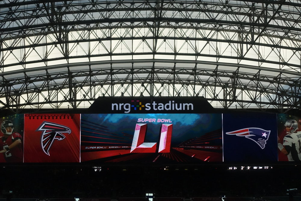 At Super Bowl LI at NRG Stadium, February 2017 (number 106)