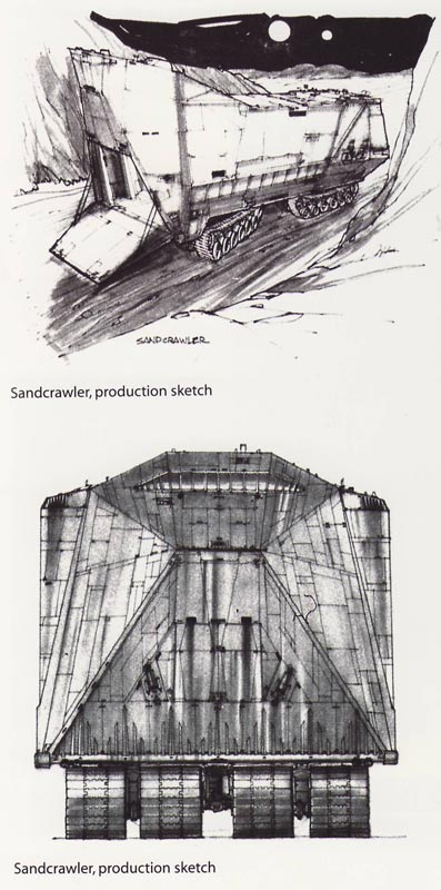 Joe Johnston's redesign of McQuarrie's initial sketches.