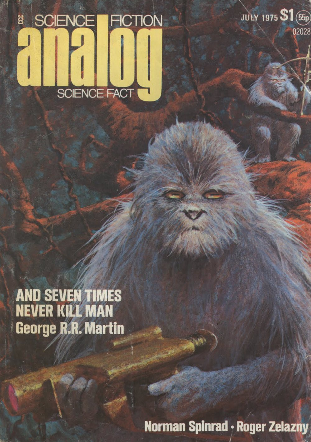 Analog, July 1975 cover by John Schoenherr