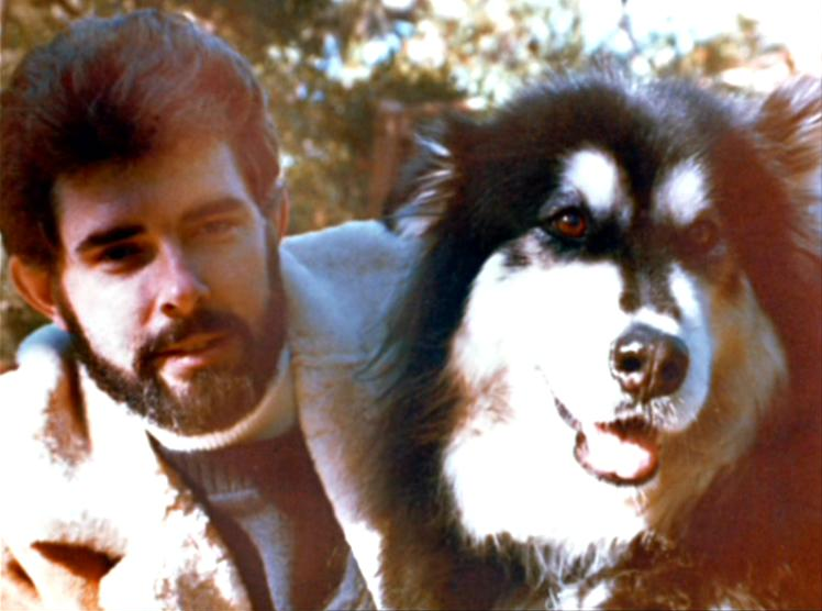 George Lucas and his Alaskan malamute Indiana Source: The Characters of Star Wars.