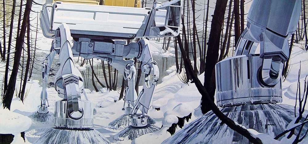 Syd Mead's walkers, made for US Steel.