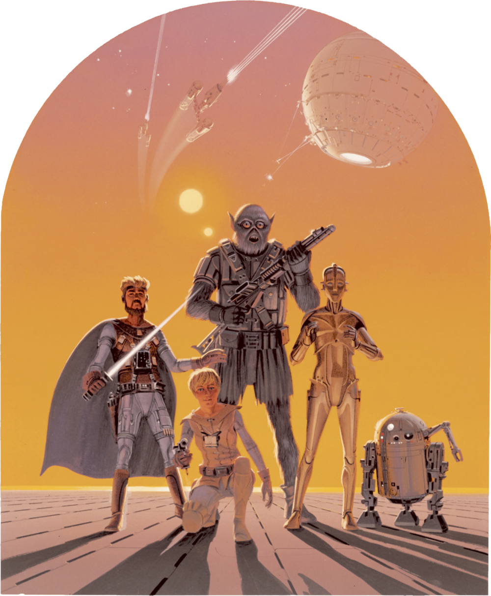 Promotional poster idea by McQuarrie Source: The Making of Star Wars, page 41.