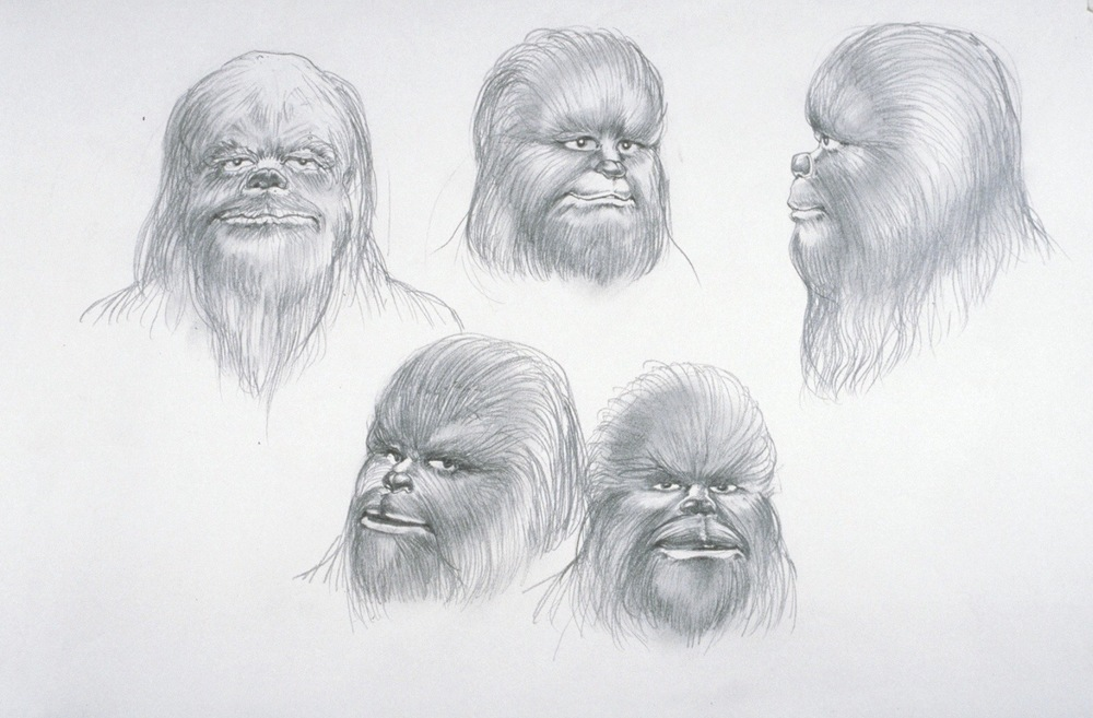 Stuart Freeborn's Chewie sketch. Source: The Making of Star Wars, page 113.