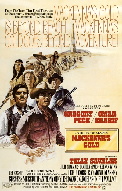 The theatrical poster for McKenna's Gold