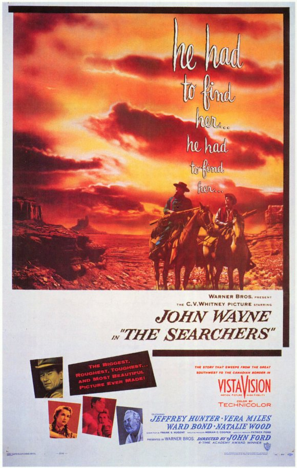 The original 1956 theatrical poster for The Searchers, by Bill Gold.