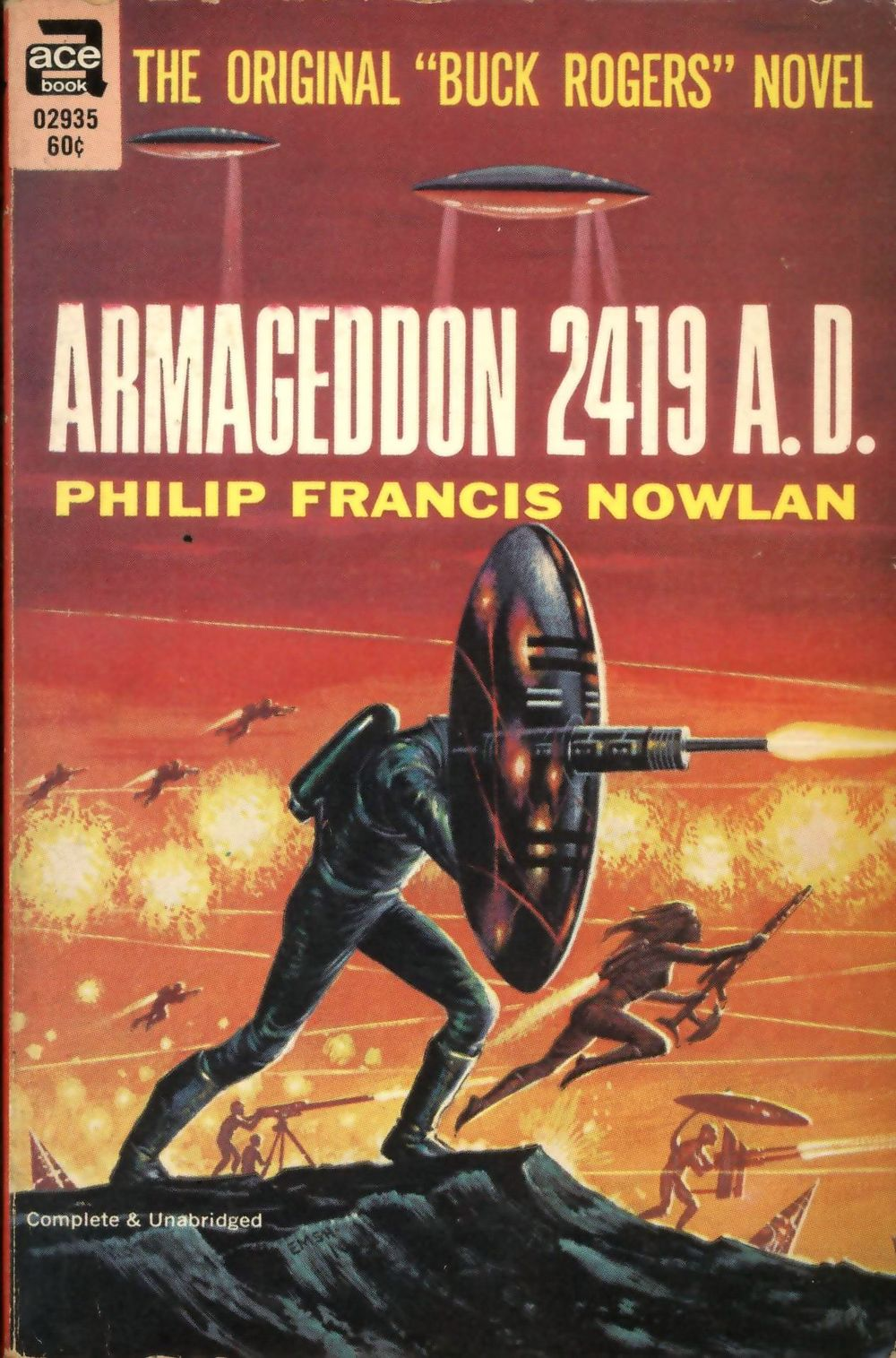 Reprint edition from the 1960s, which combines Armageddon 2419 A.D. and The Airlords of Han.