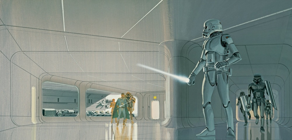 Ralph McQuarrie finished this painting on March 28, 1975
