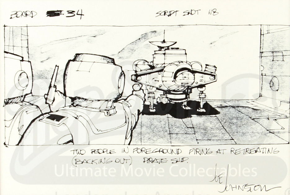 Johnston's earlier storyboard.