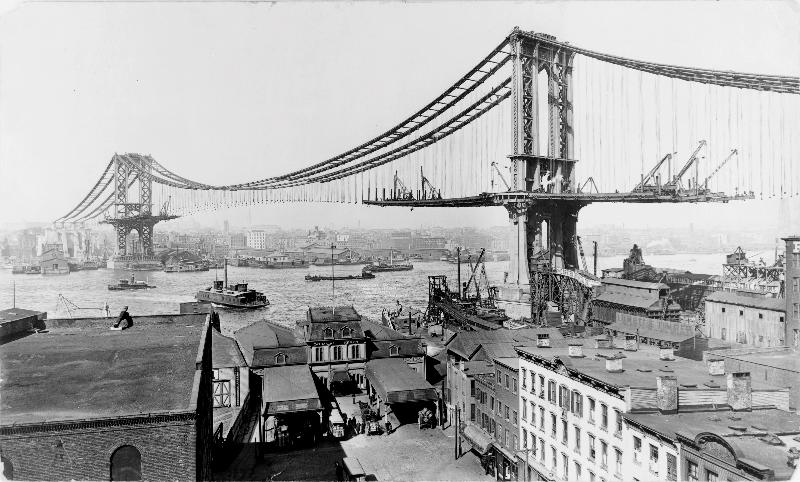 Manhattan Bridge Construction, 1909