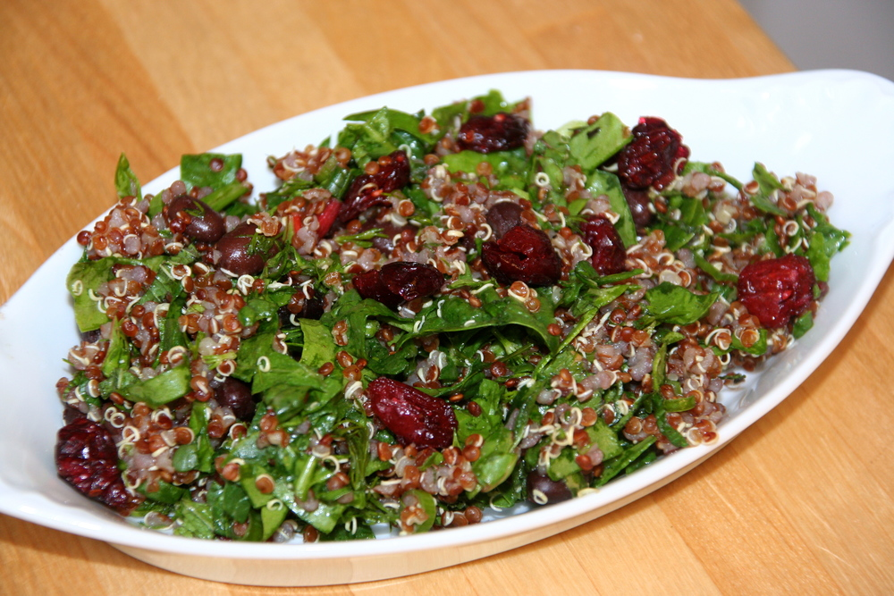 Leafy Greens and Quinoa Salad with Cranberries