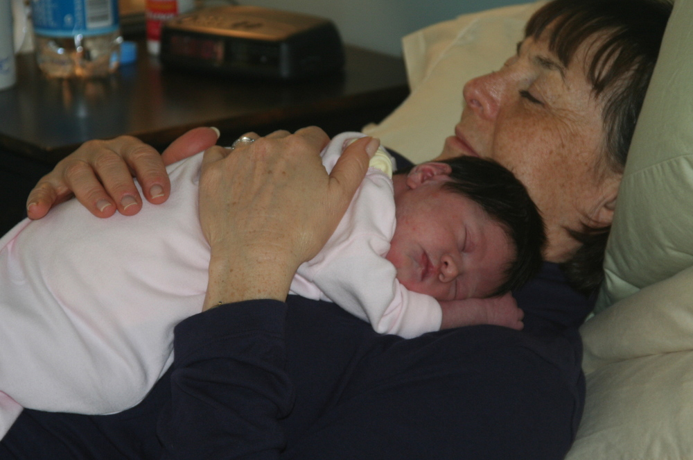 My mom and my first born - May 2006