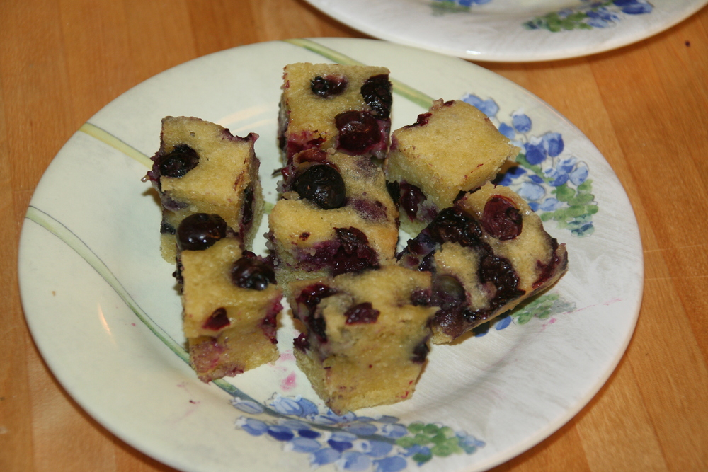 Olive Oil Blueberry cake!